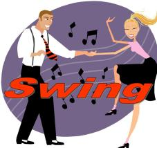 Swing/jazz music and dance are characterized by a fun, energetic vibe given by their swung rhythm.